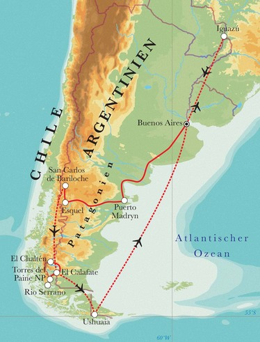 Route Rundreise Argentinien & Chile, 22 Tage