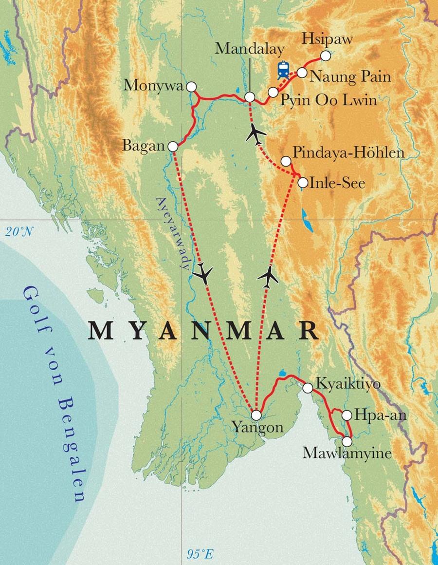 Rundreise Myanmar 22 Tage