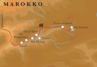 Route Marokko, 9 Tage Wanderreise