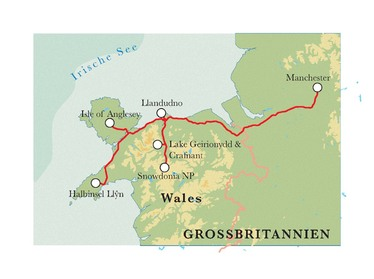 Route Wales, 8 Tage Wanderreise