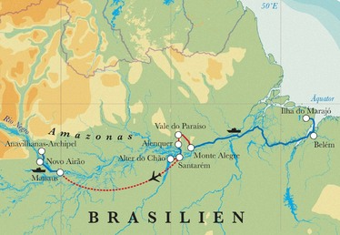 Route Rundreise Brasilien mit Amazonas, 20 Tage