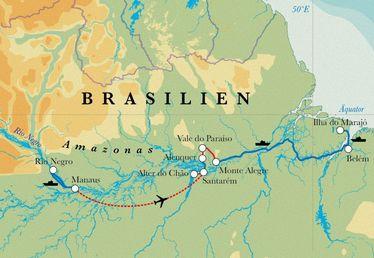 Route Rundreise Brasilien mit Amazonas, 19 Tage