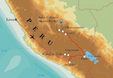 Route Rundreise Peru, 14 Tage