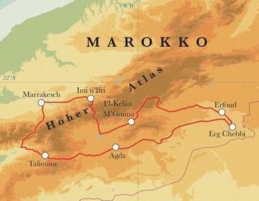 Route Marokko, 10 Tage Fahrradreise