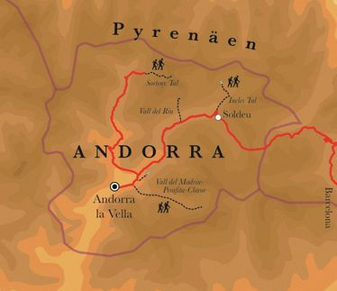 Route Andorra, 8 Tage Wanderreise