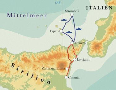 Route Sizilien Wandern, 8 Tage