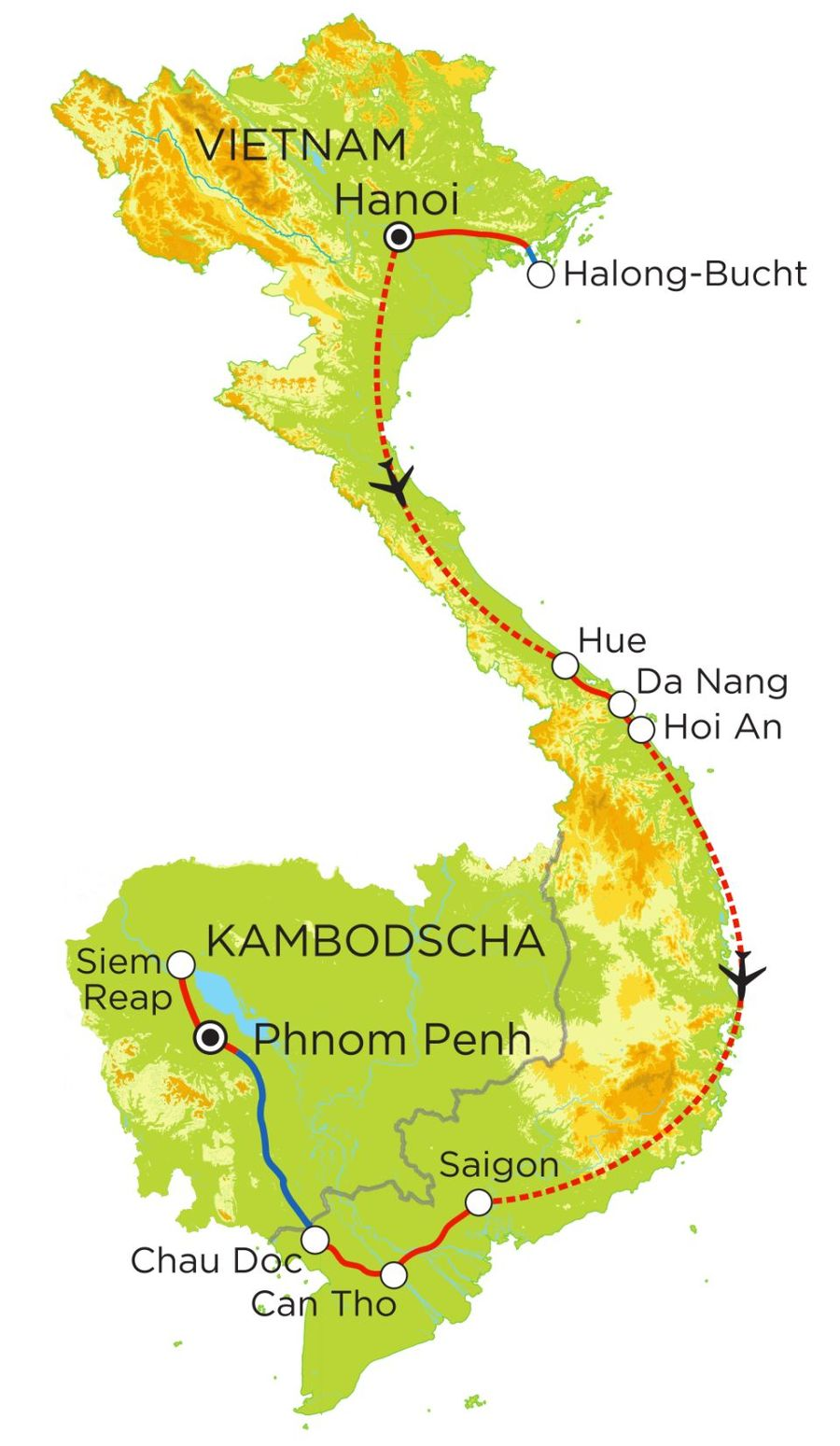 rundreise vietnam kambodscha mit kindern 22 tage. Black Bedroom Furniture Sets. Home Design Ideas