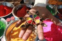 Indien Rajasthan Farben