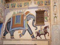 Indien Nawalgarh Haveli Fresken
