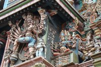 Sri Meenakshi Tempelfiguren, Madurai, Südindien