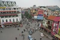 Vogelperspektive auf Hanoi